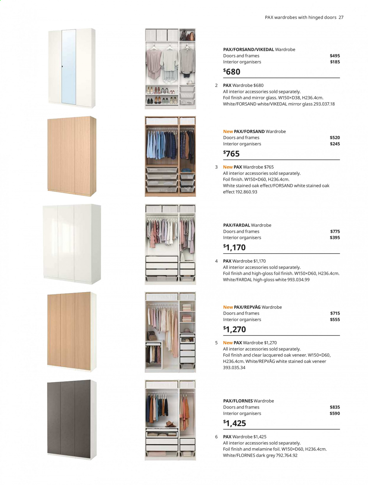 IKEA offer  - 1.4.2020 - 31.7.2020 - Sales products - door, glass, mirror, wardrobe, handles. Page 27.