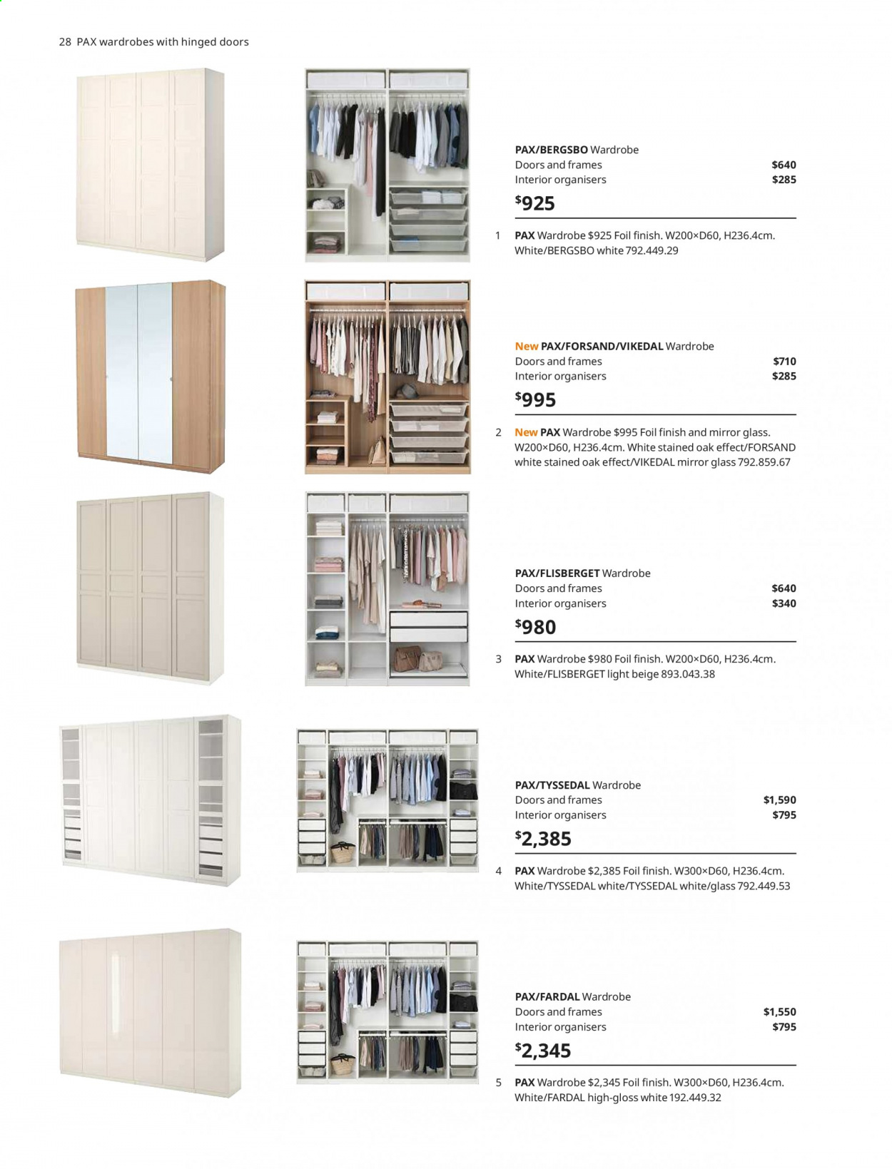 IKEA offer  - 1.4.2020 - 31.7.2020 - Sales products - door, glass, mirror, wardrobe. Page 28.