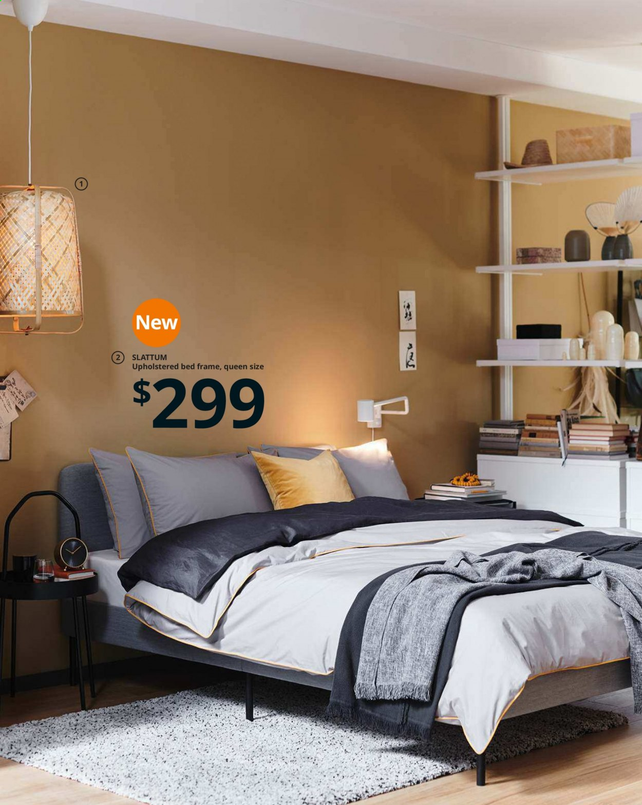IKEA offer  - Sales products - bed, bed frame, cabinet, door, glass, lamp, mattress, table lamp, upholstered bed, powder, pendant, pendant lamp. Page 66.
