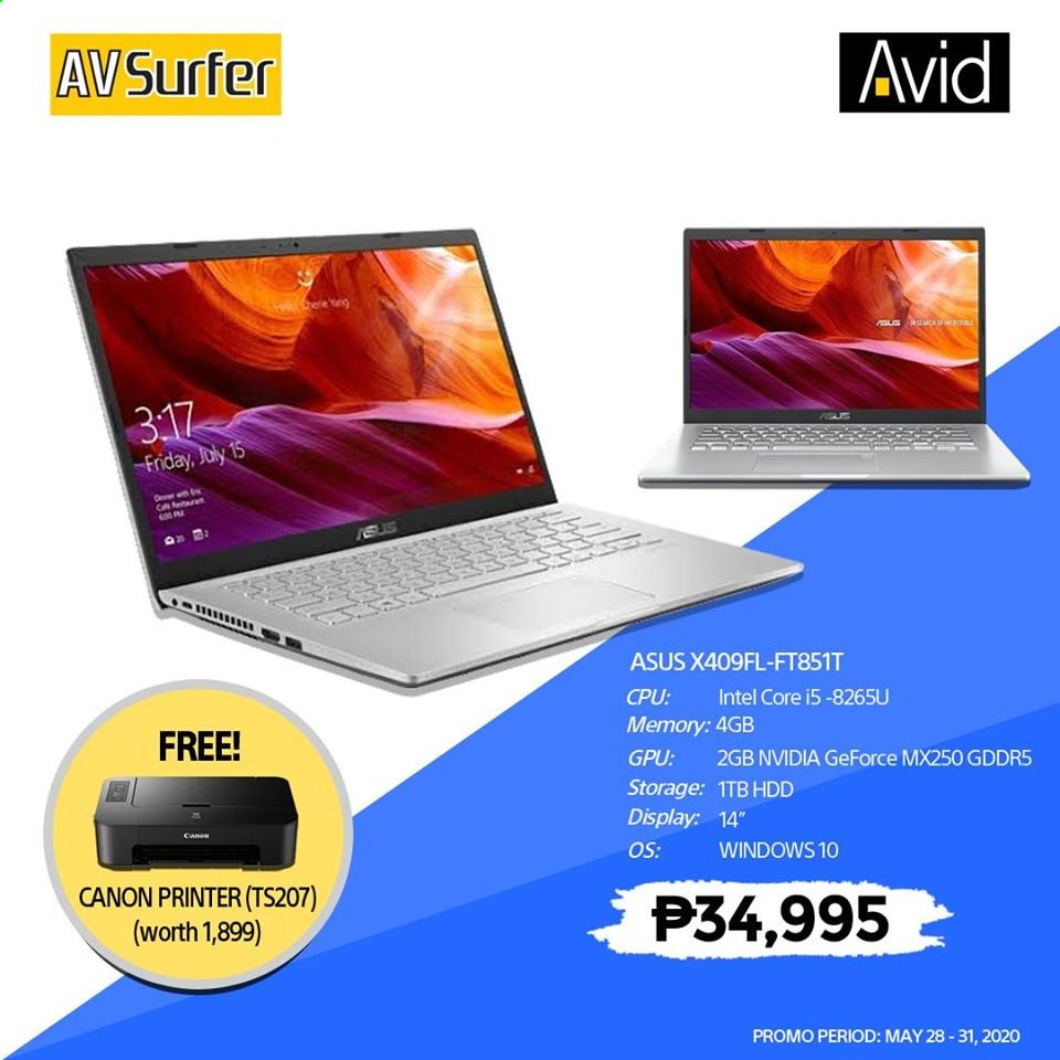 Avid offer  - 28.5.2020 - 31.5.2020 - Sales products - Asus, GeForce, Intel, Canon. Page 2.