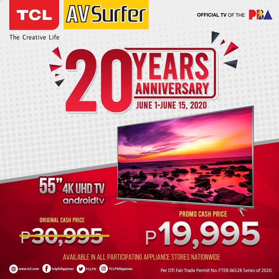 Avid offer  - 1.6.2020 - 15.6.2020 - Sales products - 4k uhd tv, TCL, UHD TV, TV. Page 1.