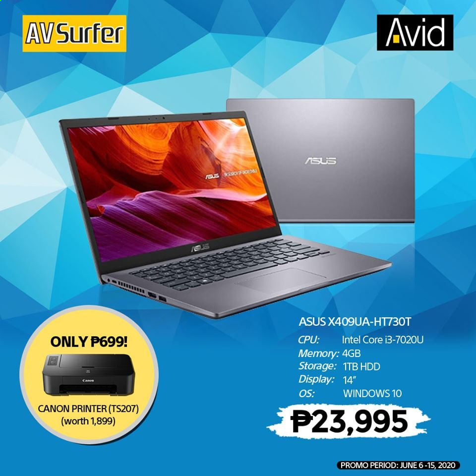 Avid offer  - 6.6.2020 - 15.6.2020 - Sales products - Asus, Intel, Canon. Page 7.