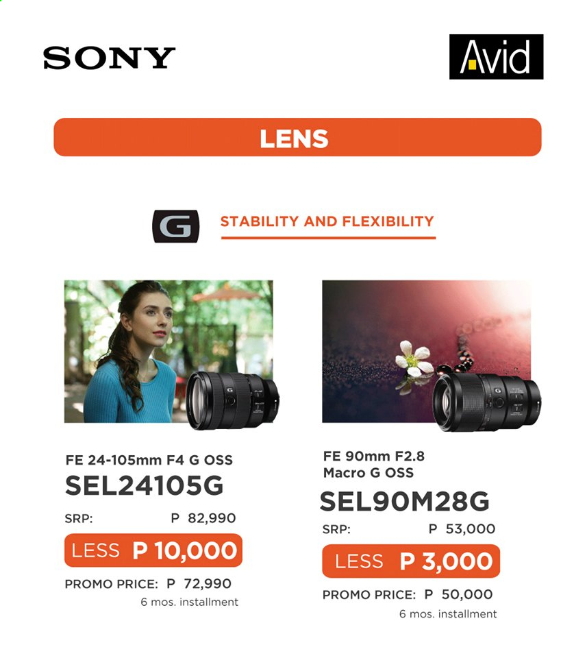 Avid offer  - 10.6.2020 - 30.6.2020 - Sales products - Sony, lens. Page 7.