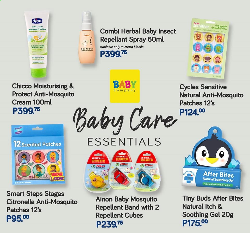 Baby Company offer  - Sales products - princess, Chicco. Page 76.