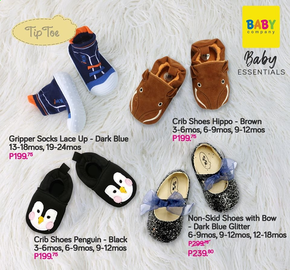 Baby Company offer  - Sales products - crib, socks, penguin. Page 79.