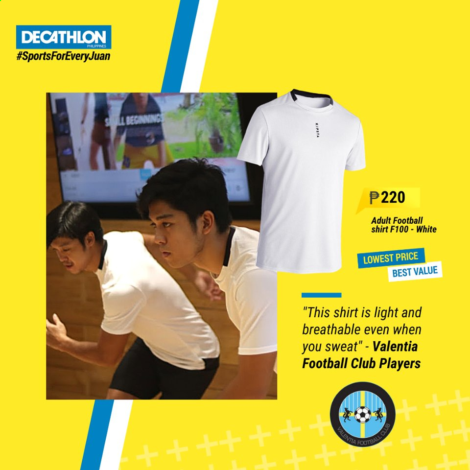 Decathlon offer  - Sales products - shirt. Page 1.