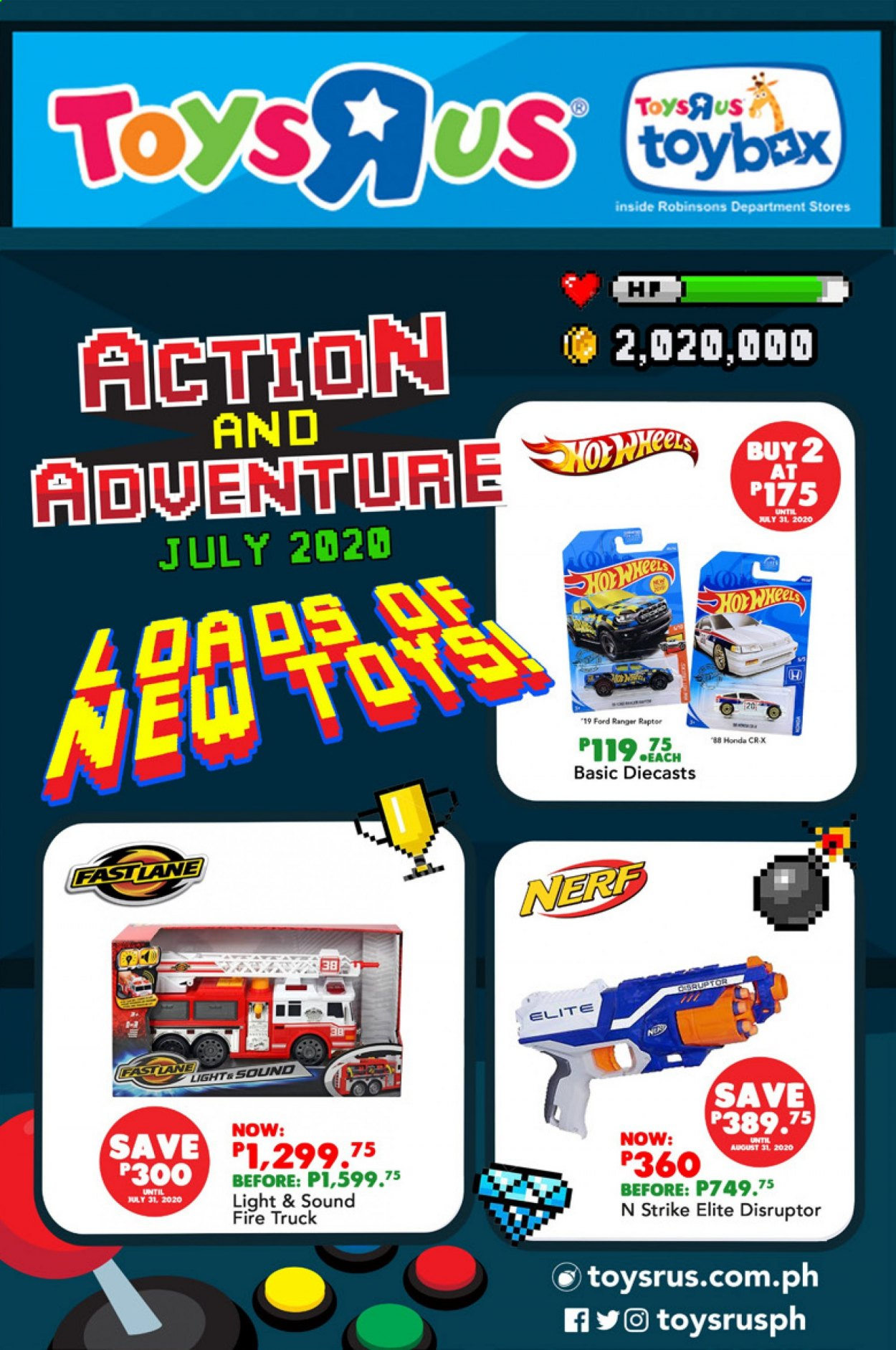 "Toys""R""Us offer  - Sales products - Nerf, truck, toys. Page 3."