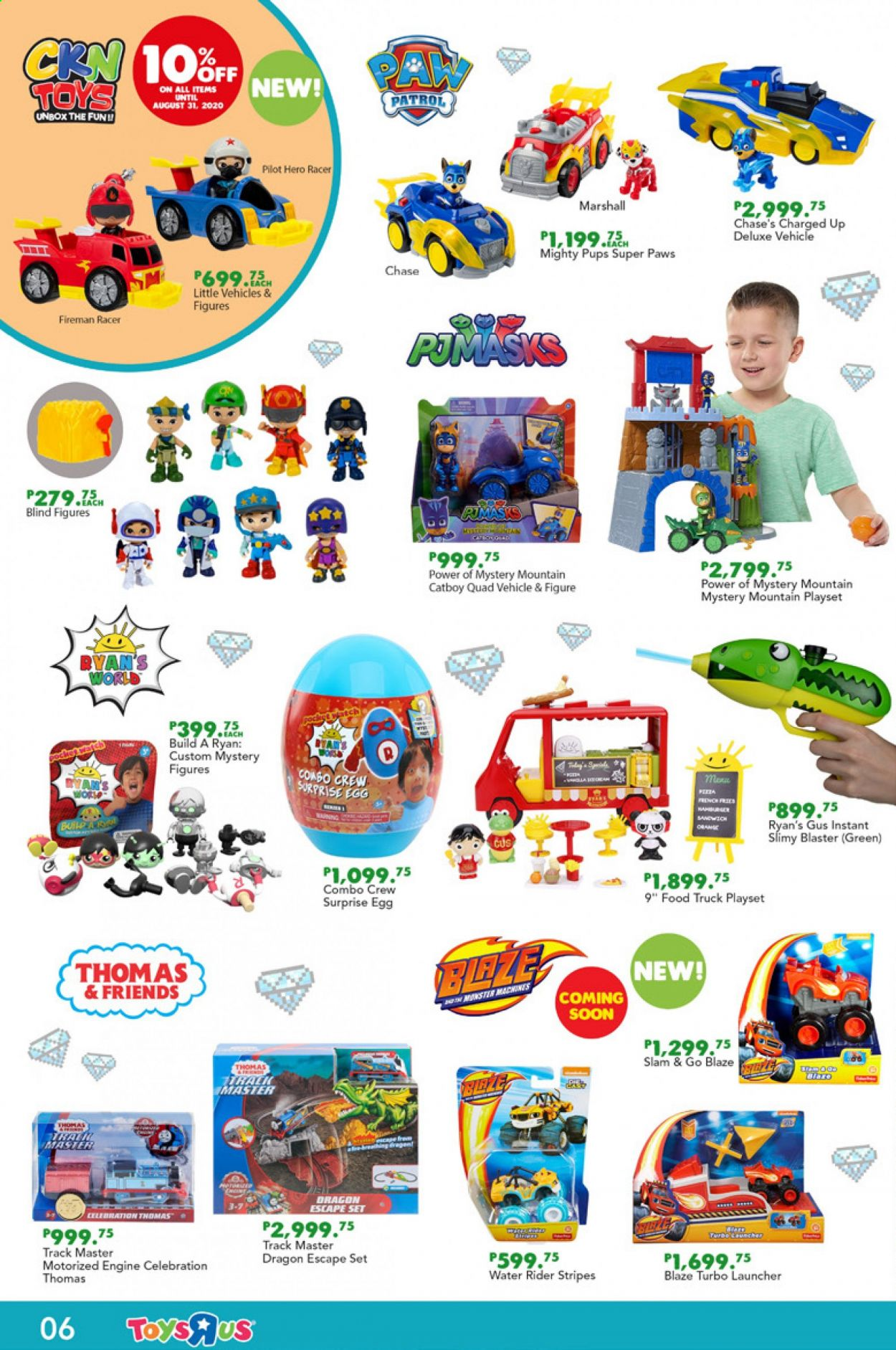 "Toys""R""Us offer  - Sales products - truck, play set, toys, vehicle, blaze, Marshall, Celebration. Page 8."