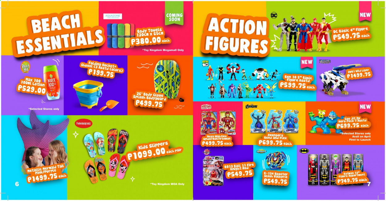 Toy Kingdom offer  - Sales products - Avengers, Batman, Spiderman, towel, ball, toys, Ben 10. Page 4.