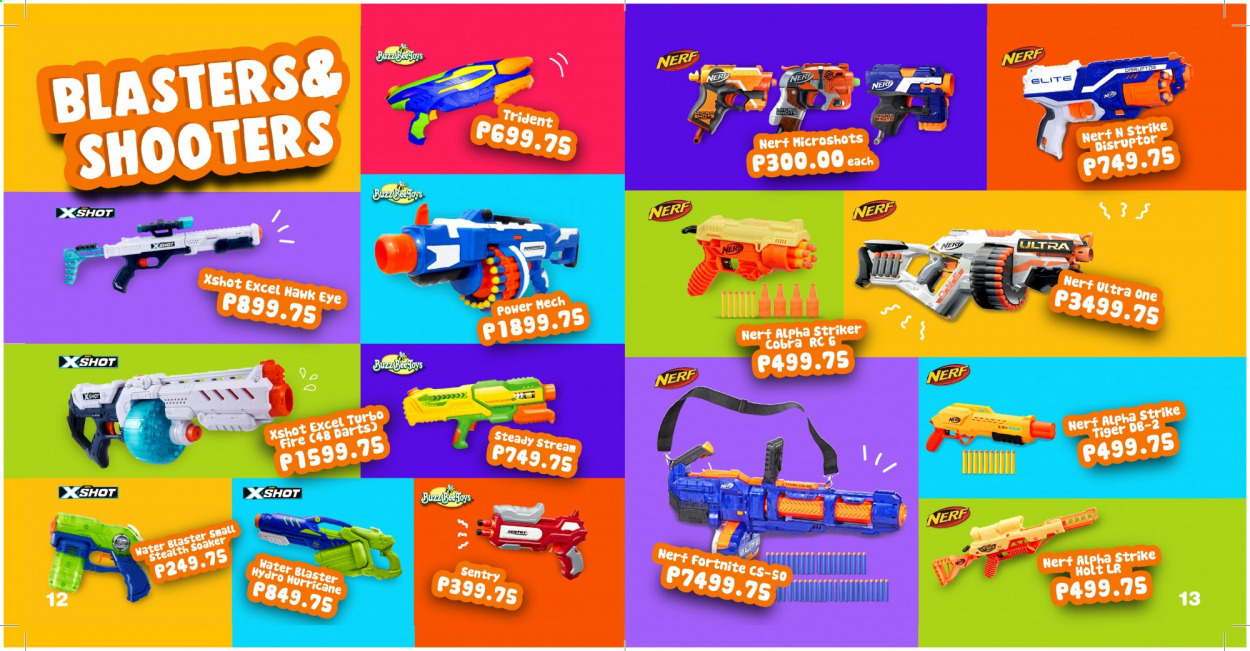 Toy Kingdom offer  - Sales products - Nerf, soaker, water blaster. Page 7.