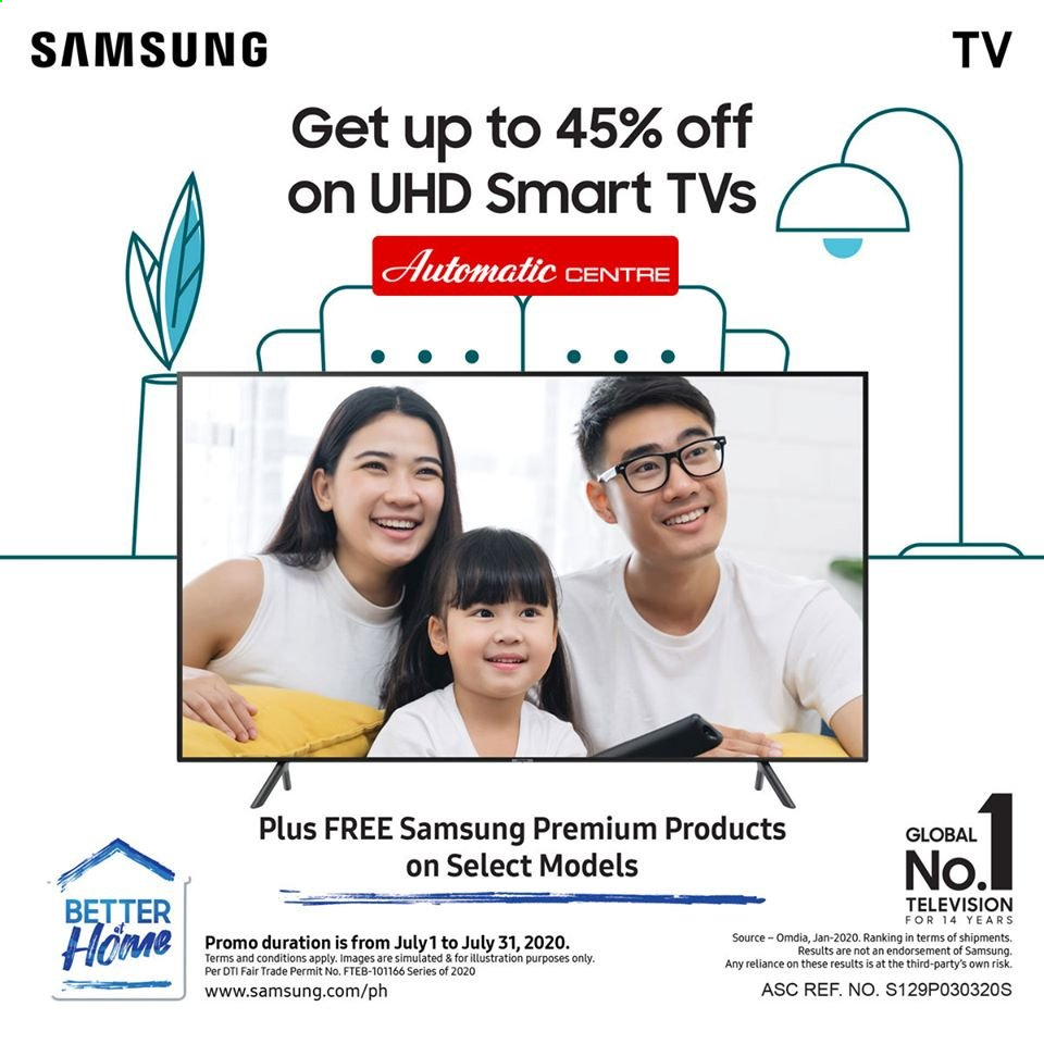 Automatic Centre offer  - 1.7.2020 - 31.7.2020 - Sales products - Samsung, samsung tv, TV. Page 1.