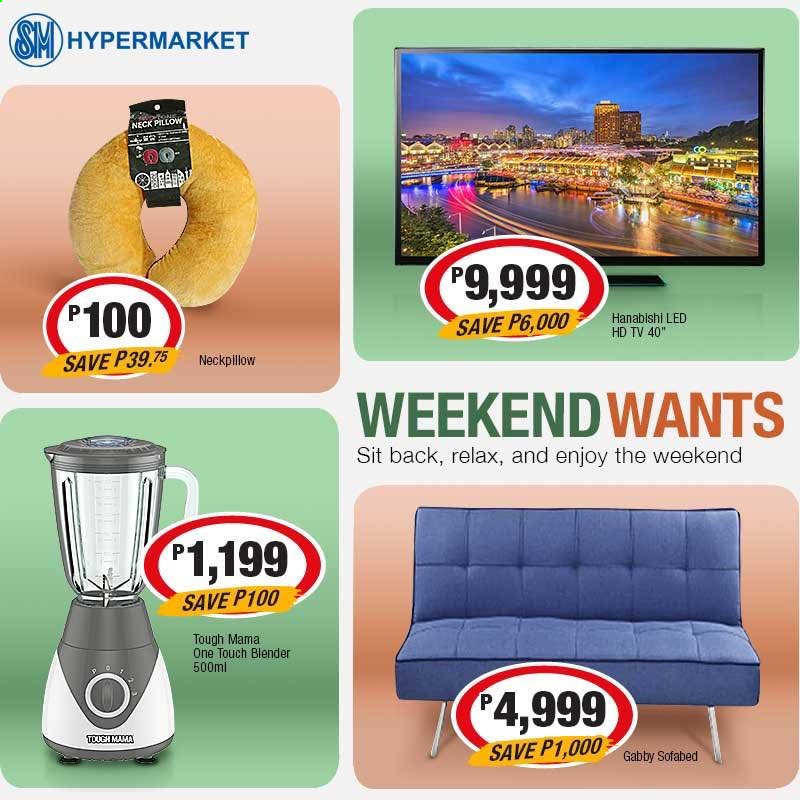 SM MARKETS offer  - Sales products - HDTV, TV, blender. Page 3.