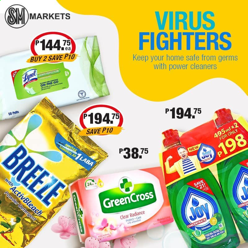 SM MARKETS offer  - Sales products - detergent, Joy, Gree. Page 5.