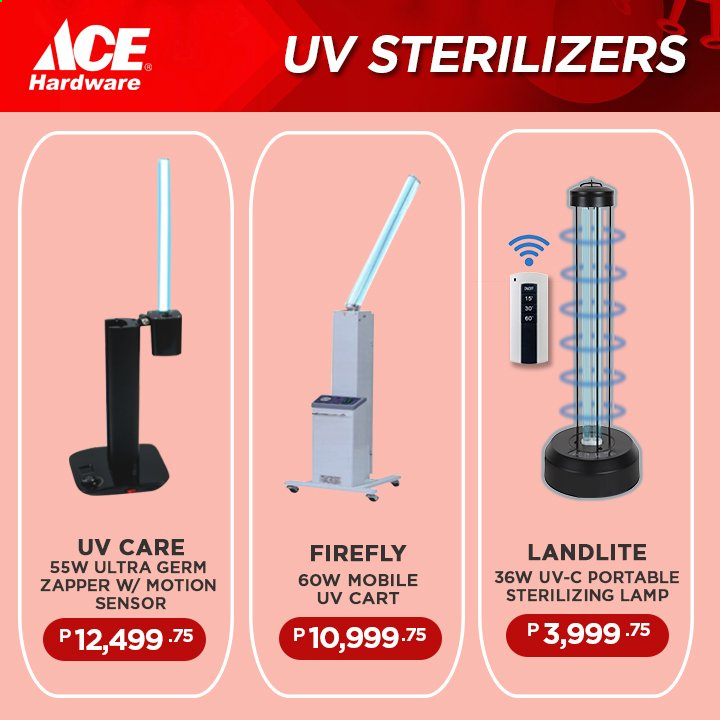 ACE Hardware offer  - Sales products - cart, lamp. Page 7.