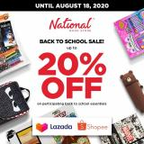 National Book Store offer  - 17.8.2020 - 18.8.2020.