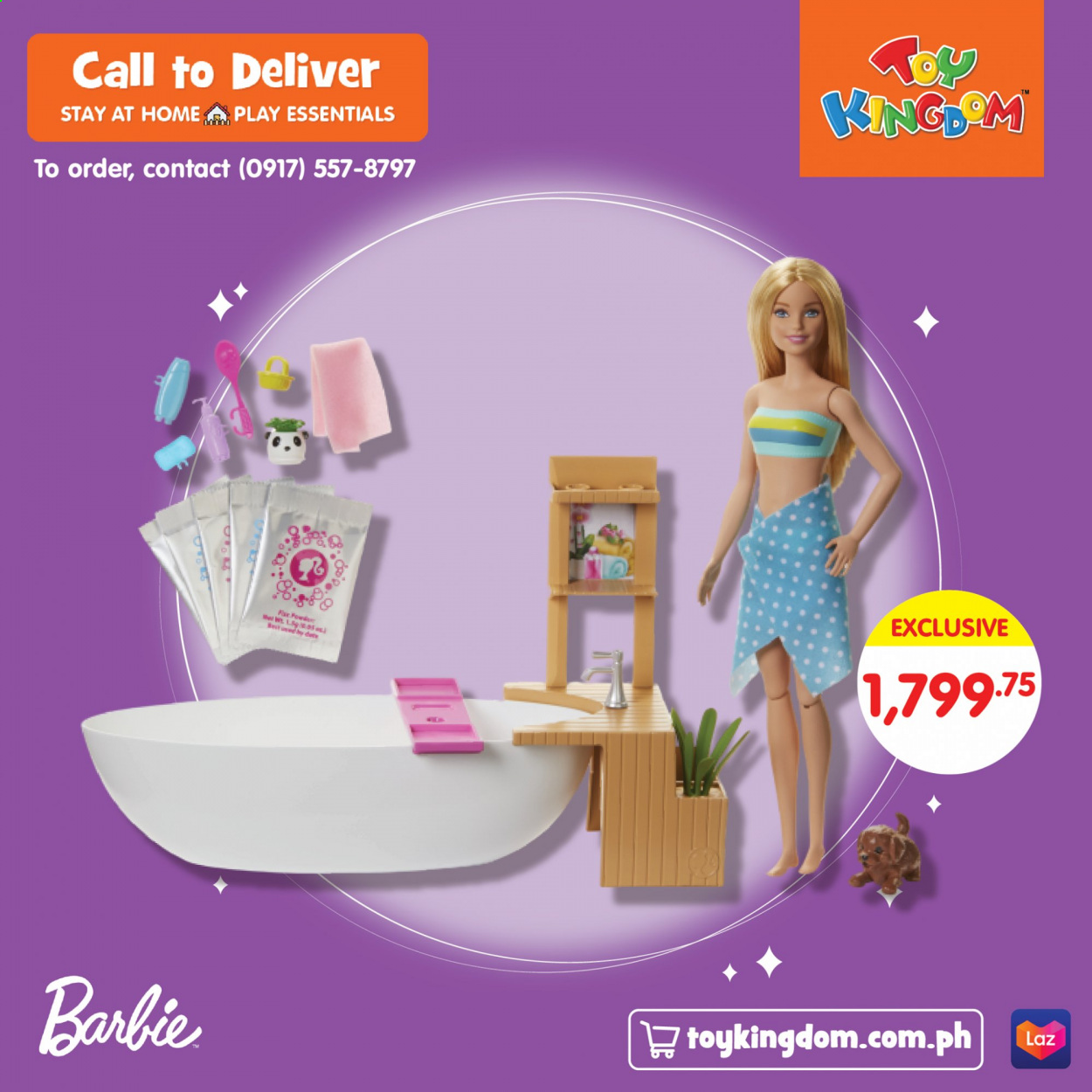 Toy Kingdom offer  - Sales products - barbie, lg, essentials. Page 1.