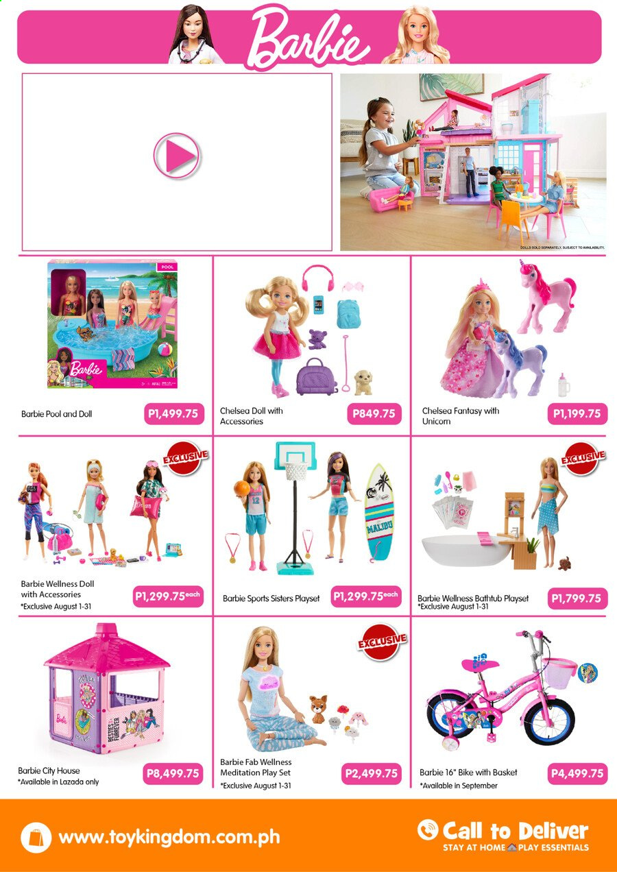 Toy Kingdom offer  - Sales products - Barbie, bike, doll, play set. Page 8.