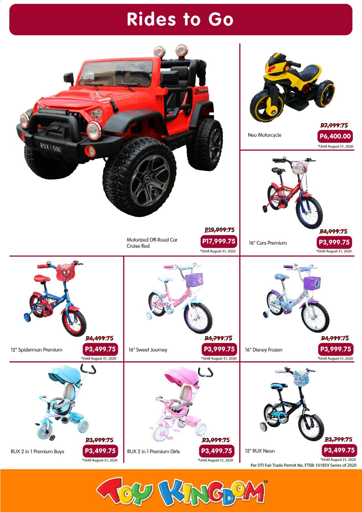 Toy Kingdom offer  - Sales products - Disney, Spiderman, Cars. Page 35.