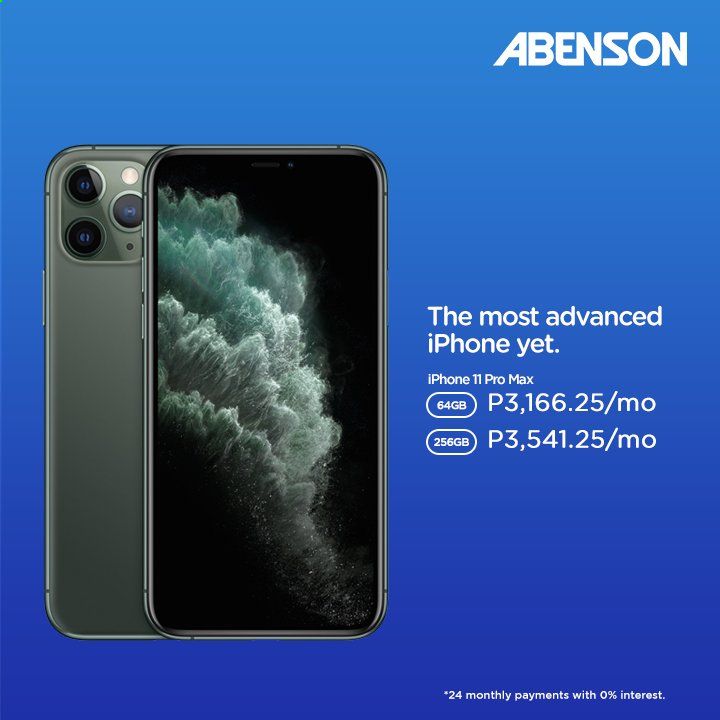 Abenson offer  - Sales products - iPhone, iPhone 11. Page 3.