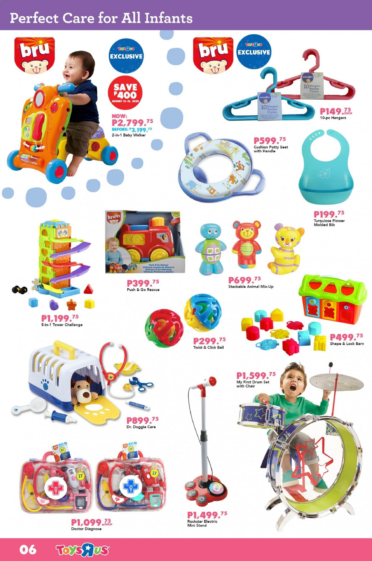 "Toys""R""Us offer  - Sales products - ball, bib. Page 6."