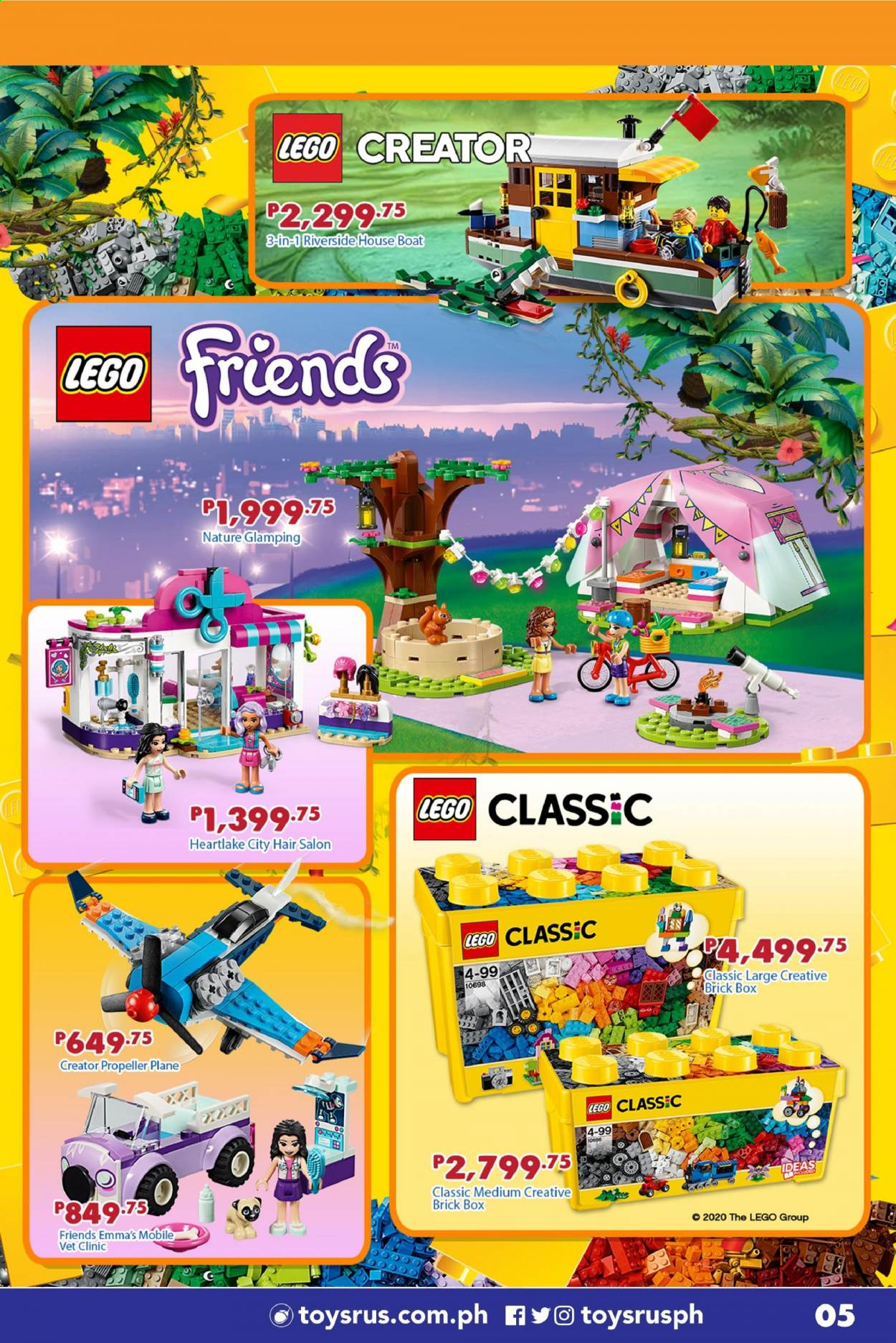 "Toys""R""Us offer  - Sales products - boat, LEGO, LEGO Creator, LEGO Friends, LEGO Classic. Page 23."