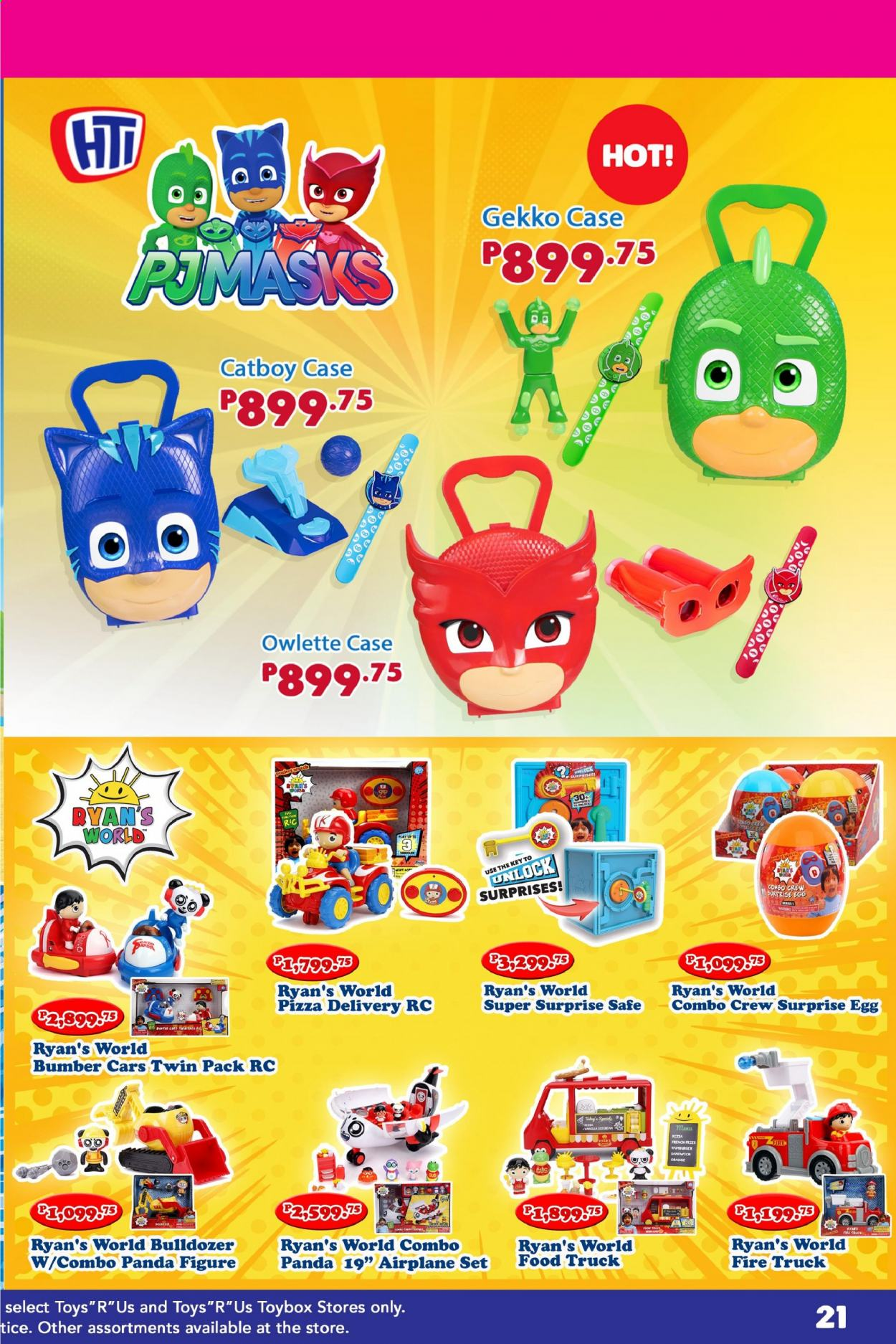 "Toys""R""Us offer  - Sales products - Cars, truck, toys, panda, orange. Page 39."