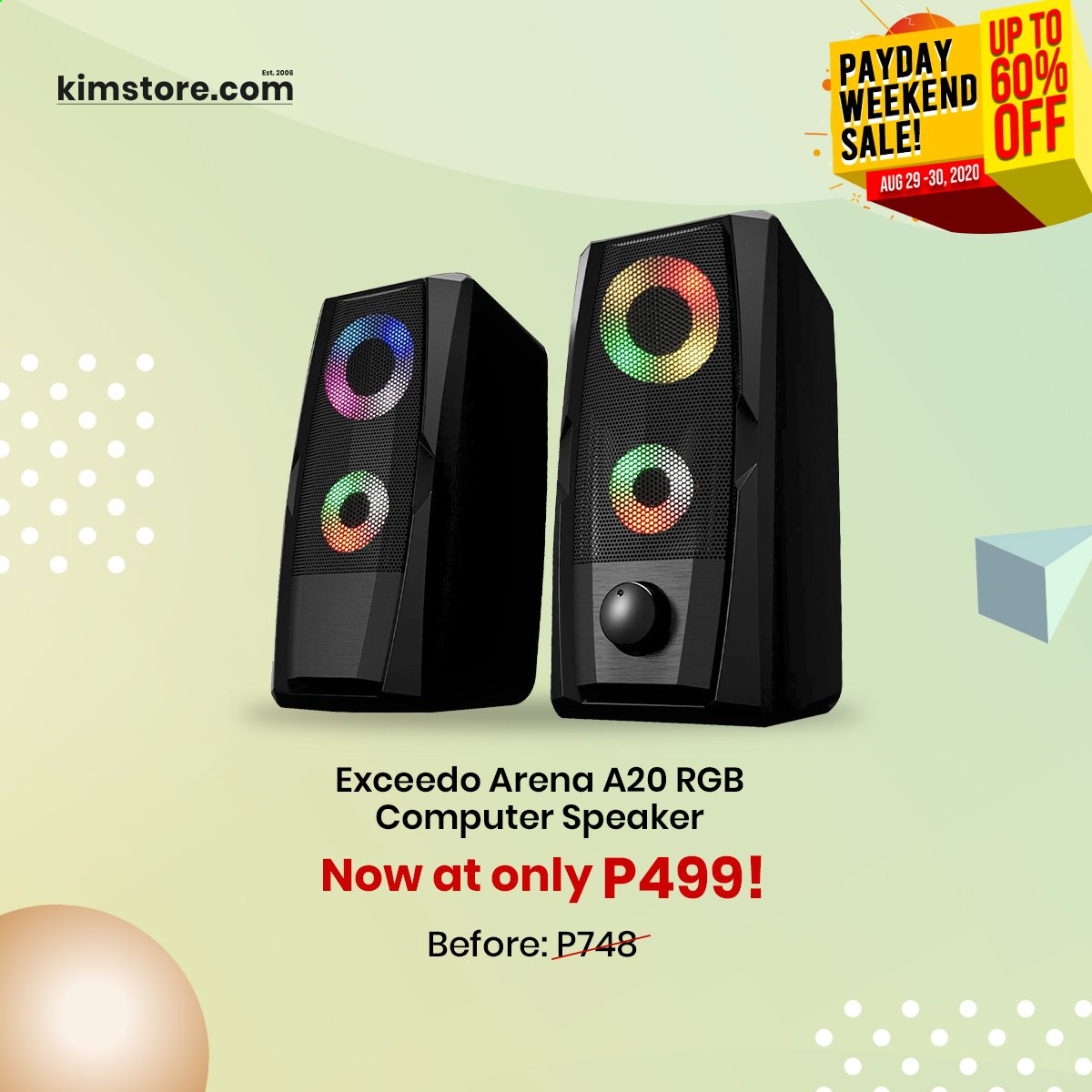 Kimstore offer  - Sales products - speaker, computer, payday. Page 4.