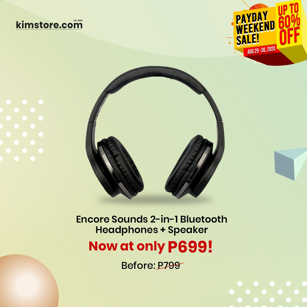 Kimstore offer  - Sales products - bluetooth, speaker, headphones, payday. Page 8.