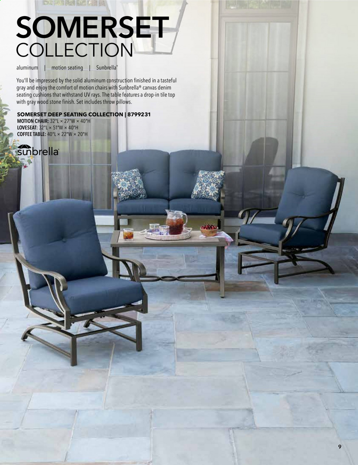 ACE Hardware offer  - 2.9.2020 - 31.12.2020 - Sales products - coffee table, corner chair, glass, loveseat, chair, jeans, pillow, ottoman. Page 9.
