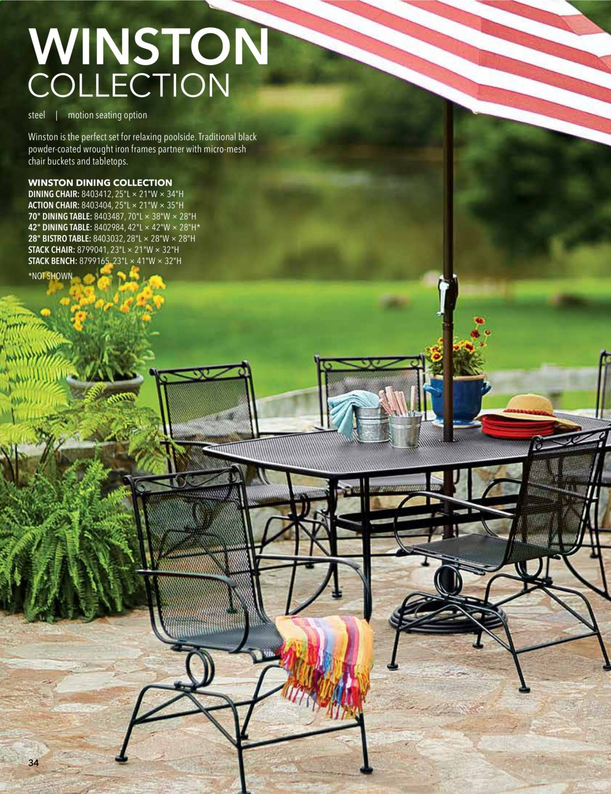 ACE Hardware offer  - 2.9.2020 - 31.12.2020 - Sales products - Bench, dining table, table, chair, iron, powder, dining chair. Page 34.