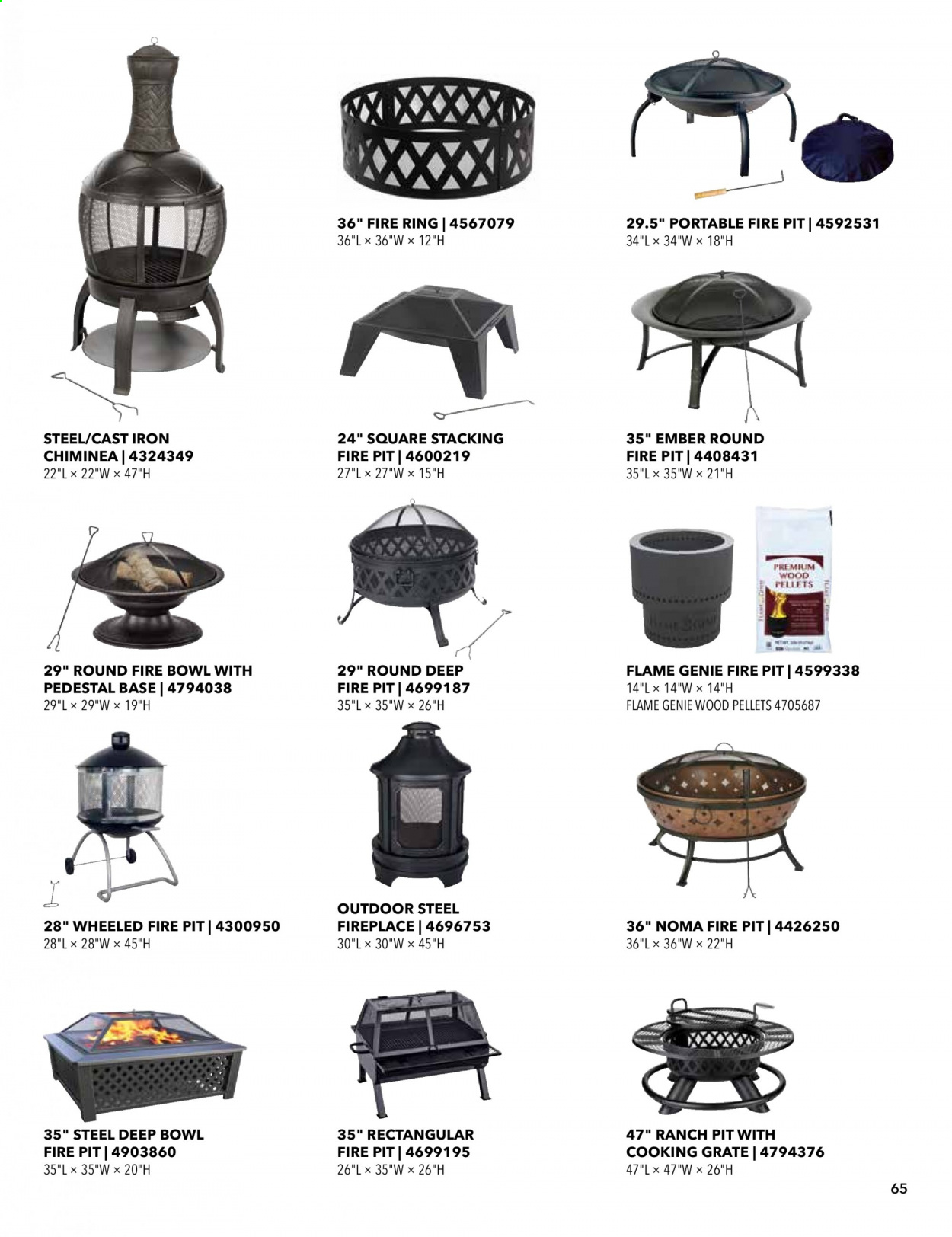 ACE Hardware offer  - 2.9.2020 - 31.12.2020 - Sales products - fireplace, iron. Page 65.