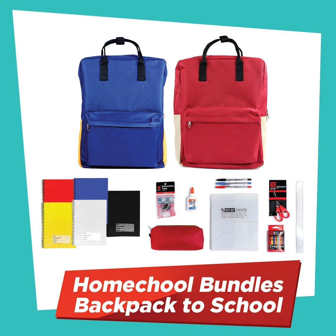 National Book Store offer  - Sales products - backpack, tape, scissors. Page 5.