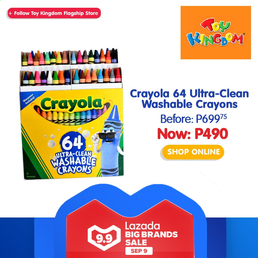 Toy Kingdom offer  - 9.9.2020 - 9.9.2020 - Sales products - Crayola Crayons, Sharp, toys. Page 28.