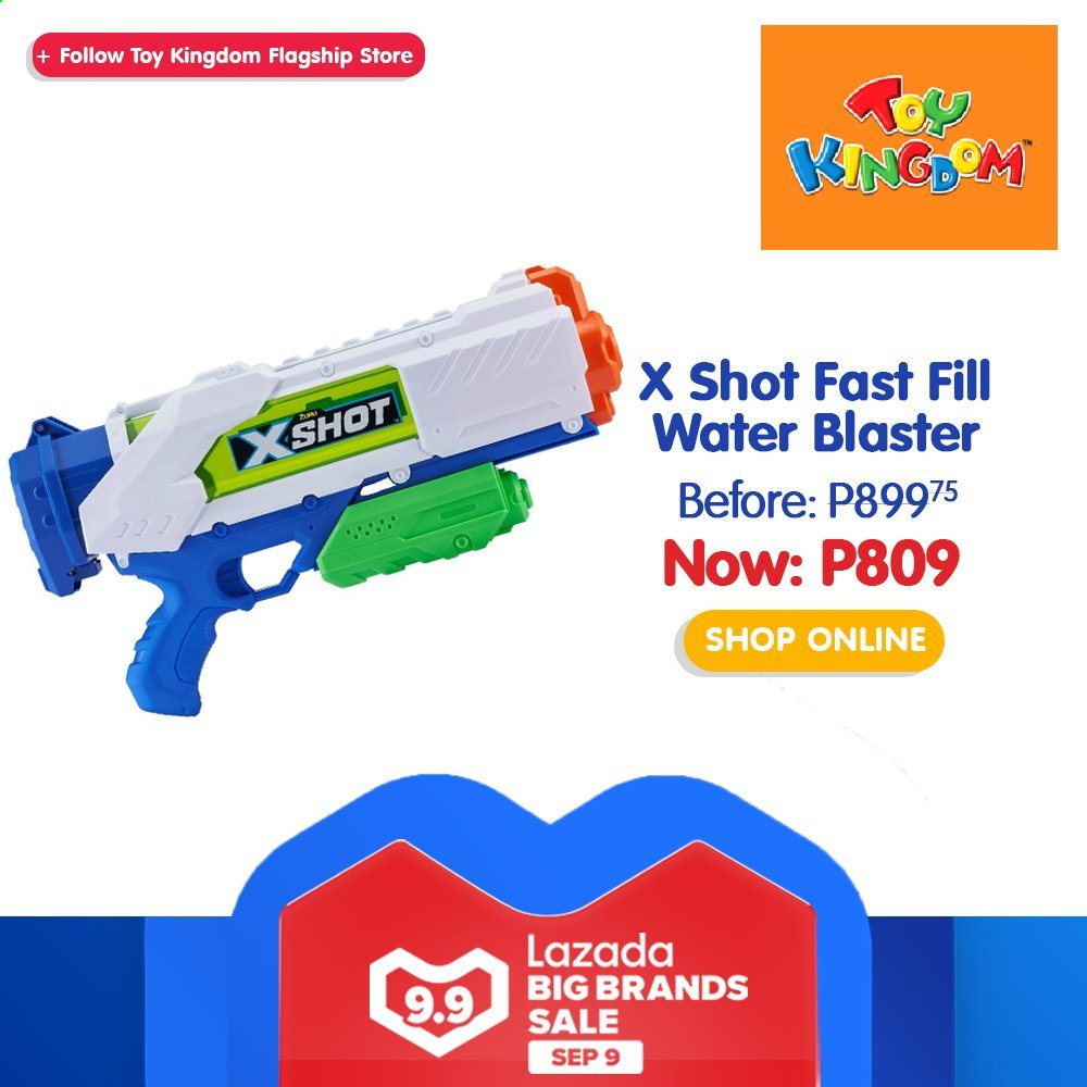 Toy Kingdom offer  - 9.9.2020 - 9.9.2020 - Sales products - toys, water blaster. Page 29.