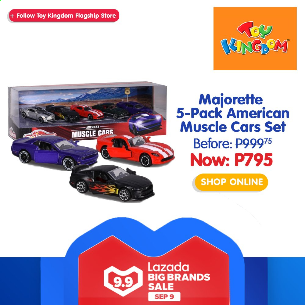 Toy Kingdom offer  - 9.9.2020 - 9.9.2020 - Sales products - Cars, toys, Majorette. Page 33.