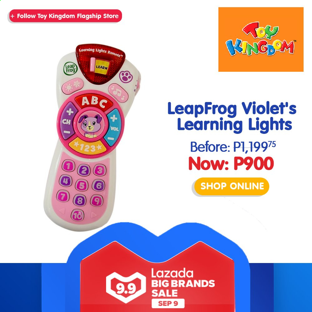 Toy Kingdom offer  - 9.9.2020 - 9.9.2020 - Sales products - LeapFrog, toys. Page 40.