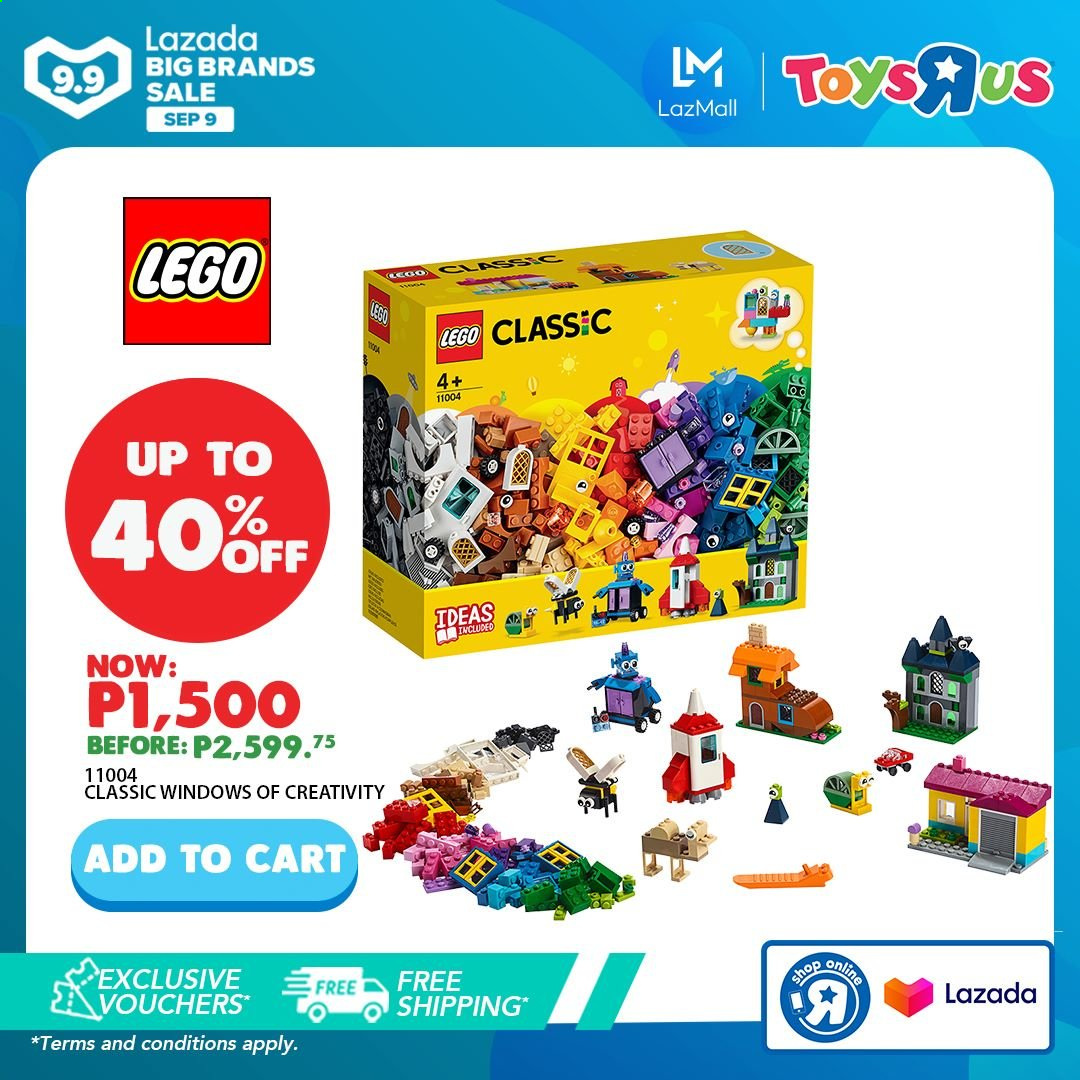 "Toys""R""Us offer  - 9.9.2020 - 9.9.2020 - Sales products - LEGO, toys, LEGO Classic. Page 2."