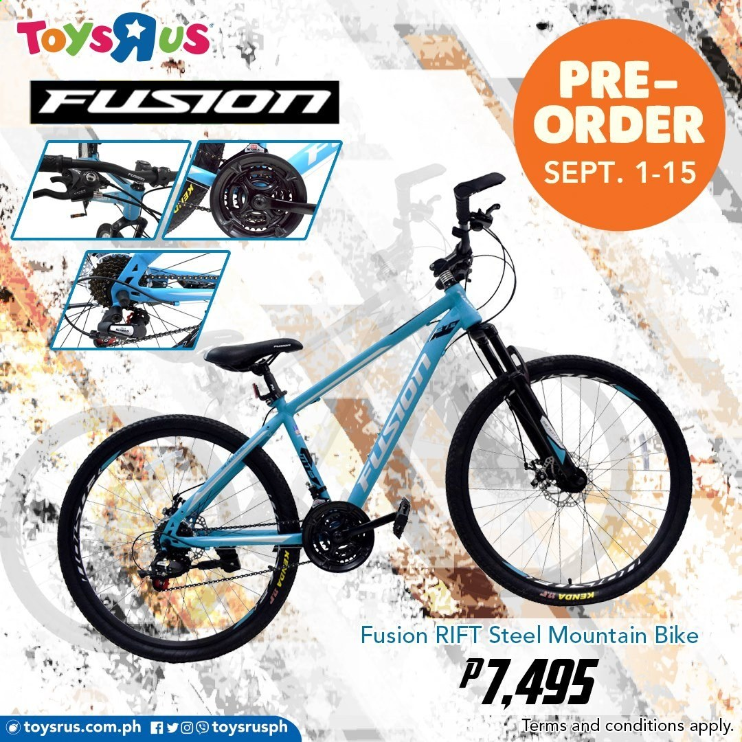 "Toys""R""Us offer  - 1.9.2020 - 15.9.2020 - Sales products - bike, mountain bike, toys. Page 1."