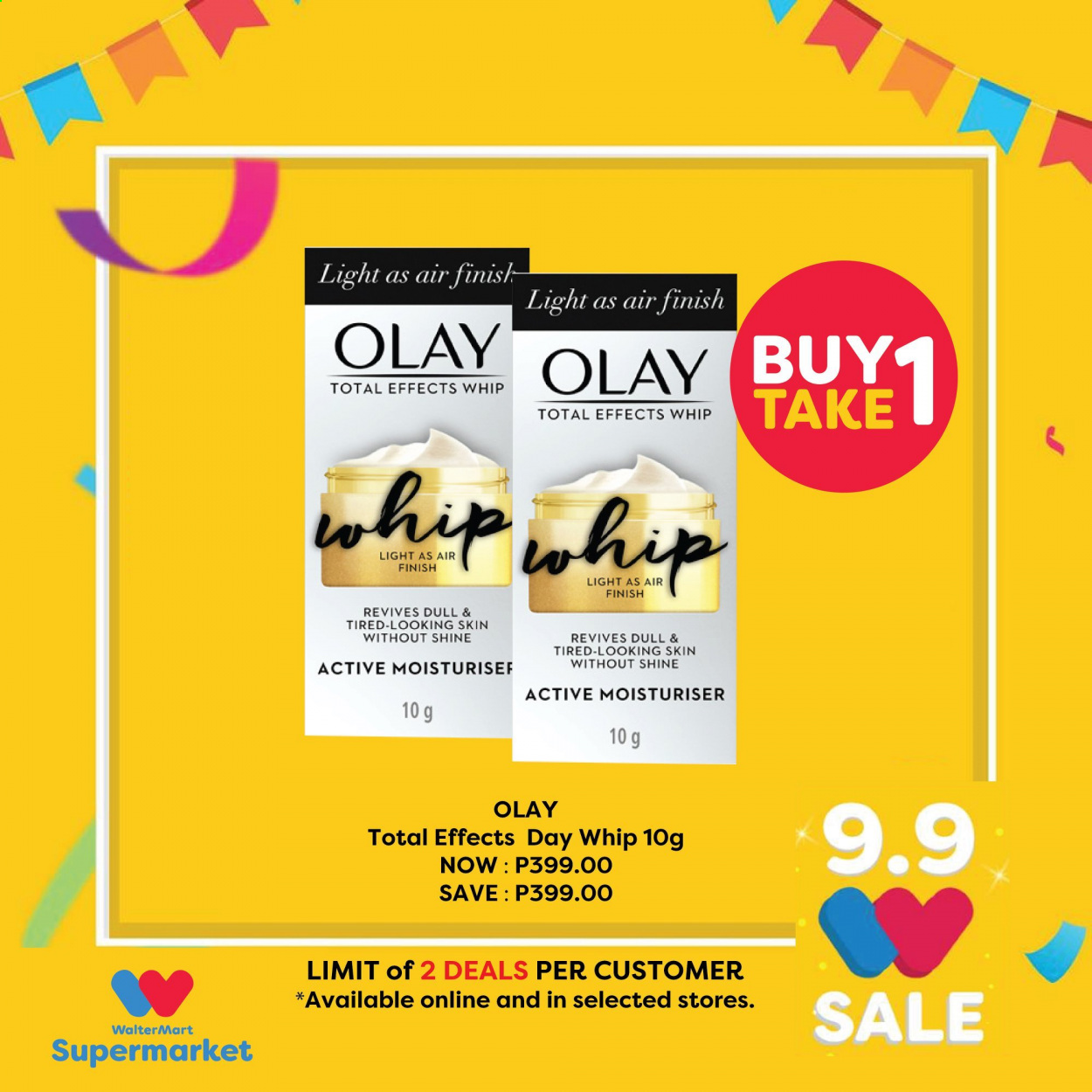 Walter Mart offer  - 9.9.2020 - 9.9.2020 - Sales products - olay. Page 4.