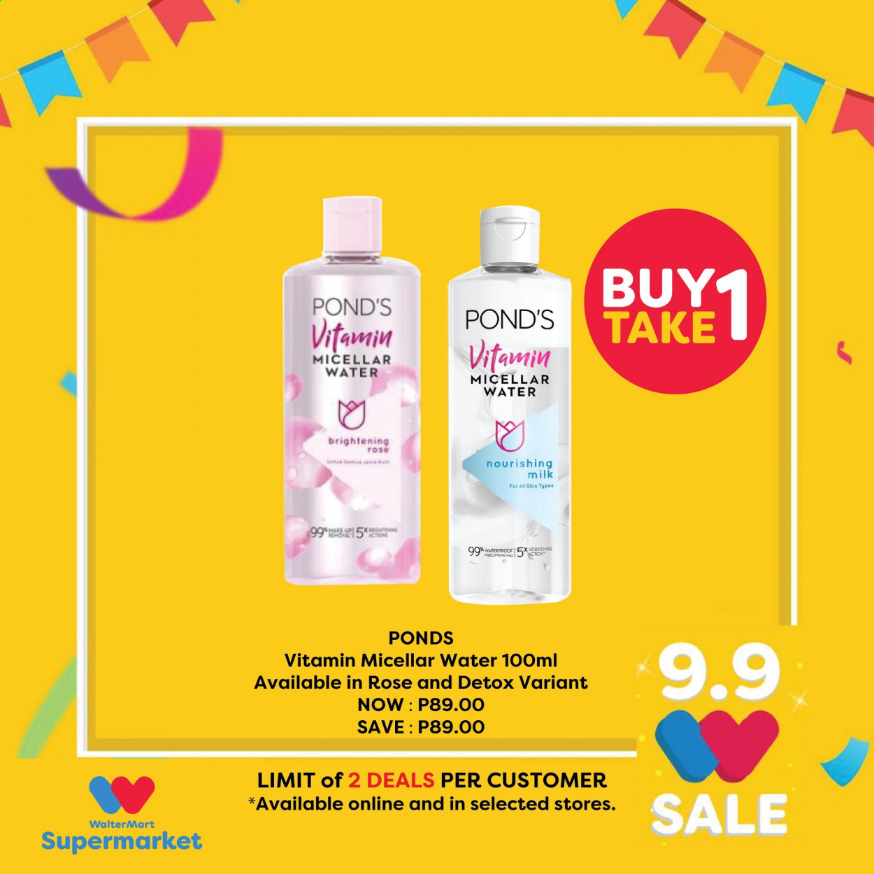 Walter Mart offer  - 9.9.2020 - 9.9.2020 - Sales products - micellar water, milk, nourishing, waterproof. Page 10.