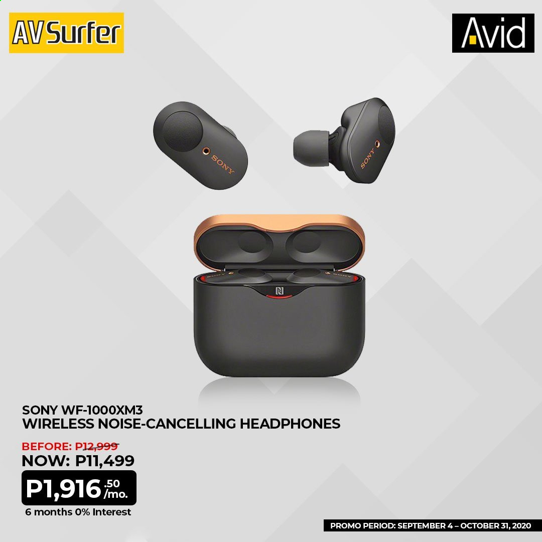 Avid offer  - 4.9.2020 - 31.10.2020 - Sales products - Sony, headphones. Page 1.