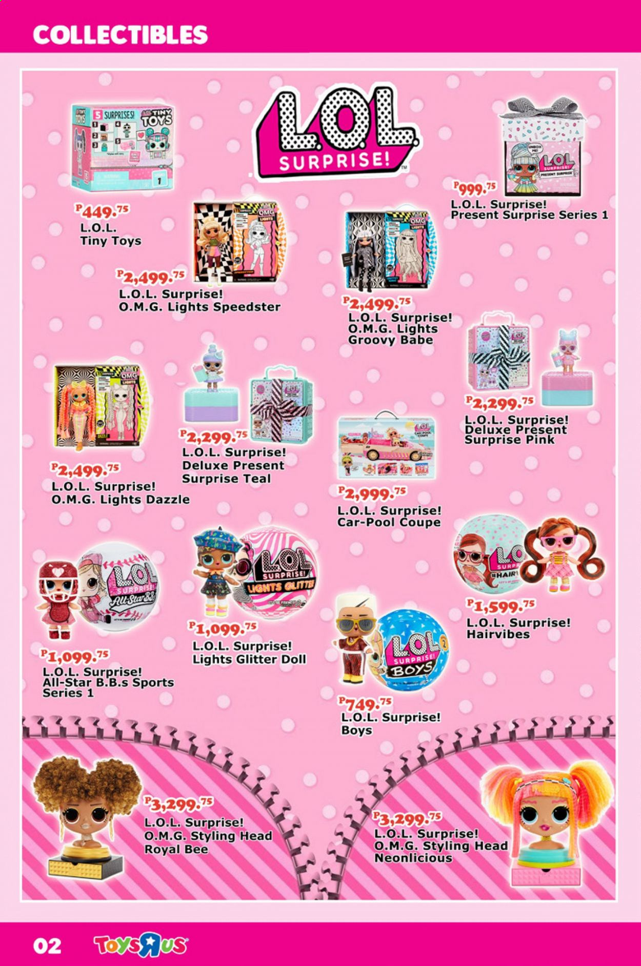 "Toys""R""Us offer  - 1.9.2020 - 30.9.2020 - Sales products - doll, toys, styling head, L.O.L. Surprise. Page 2."