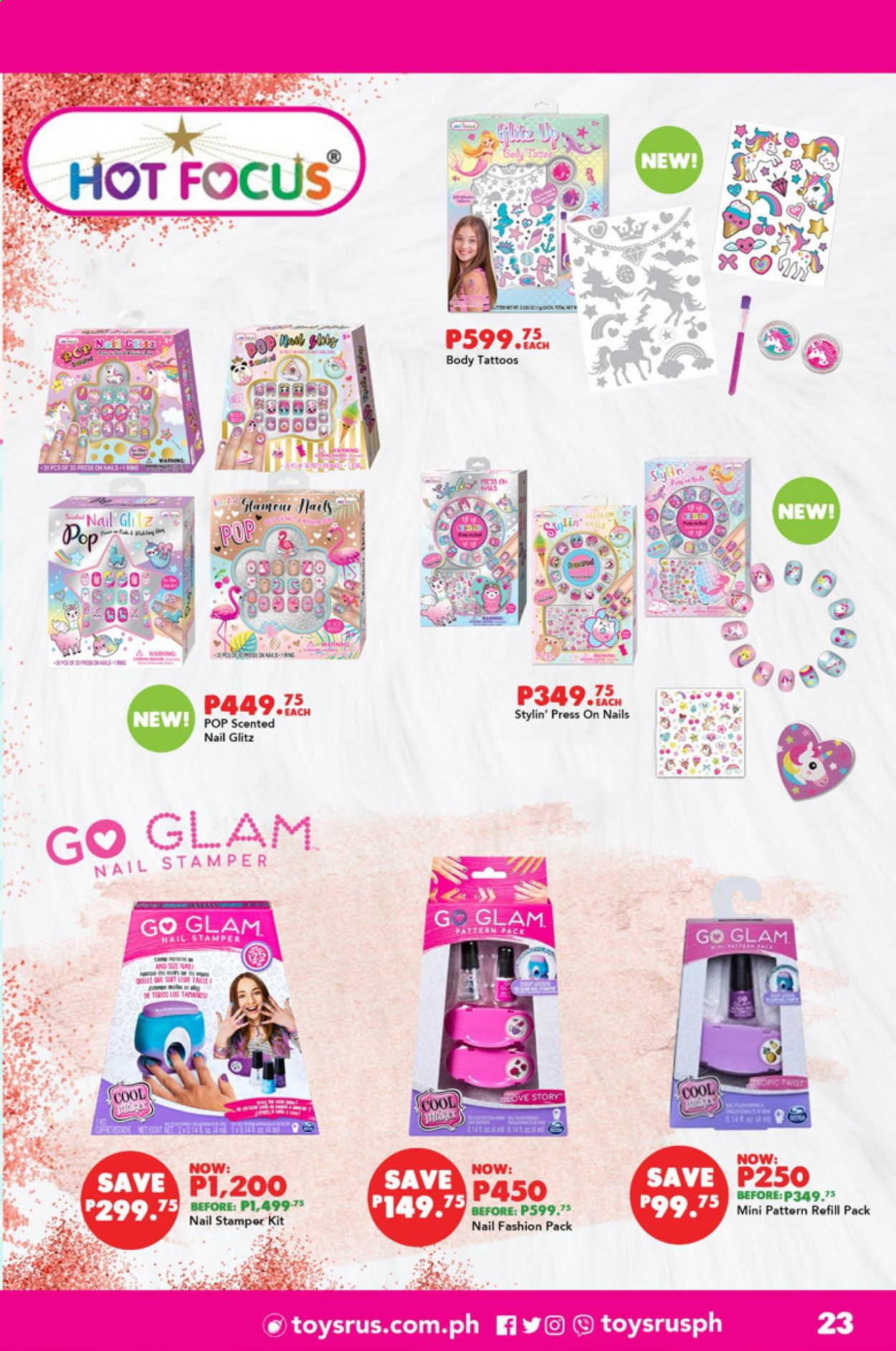 "Toys""R""Us offer  - 1.9.2020 - 30.9.2020 - Sales products - pin, refill. Page 23."