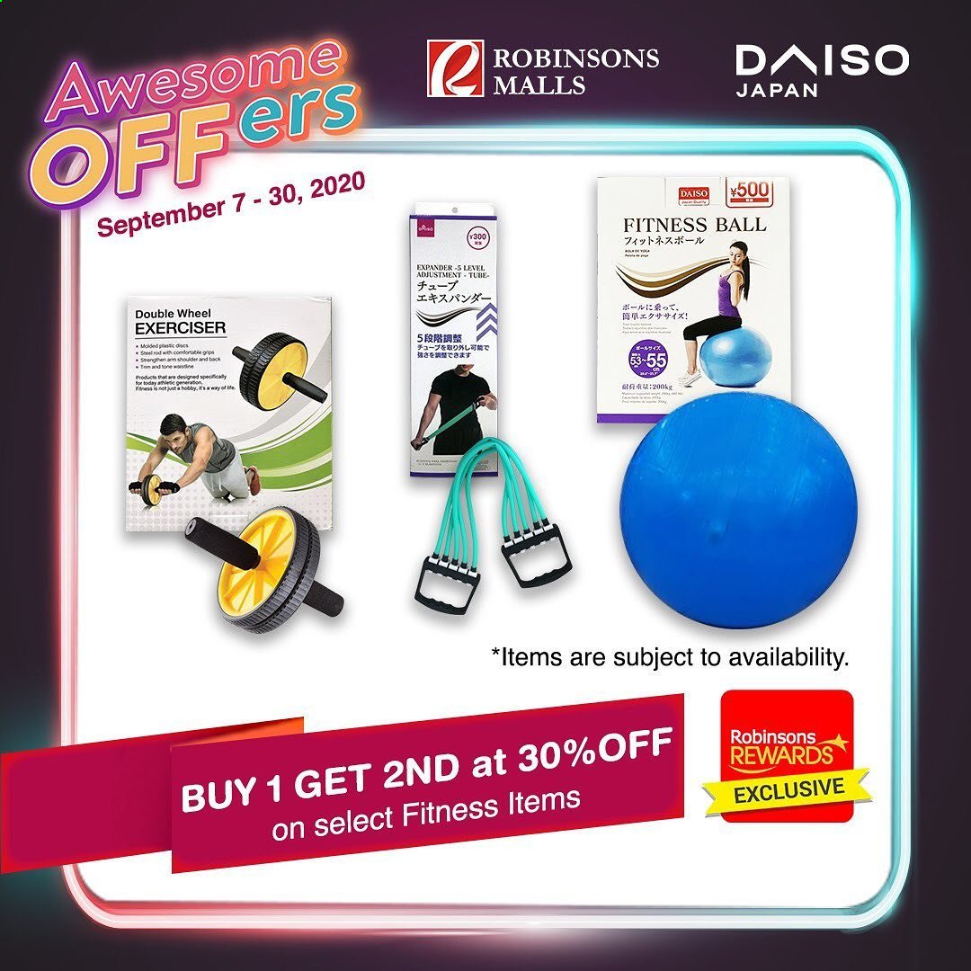 Robinsons Malls offer  - 7.9.2020 - 30.9.2020 - Sales products - ball. Page 6.