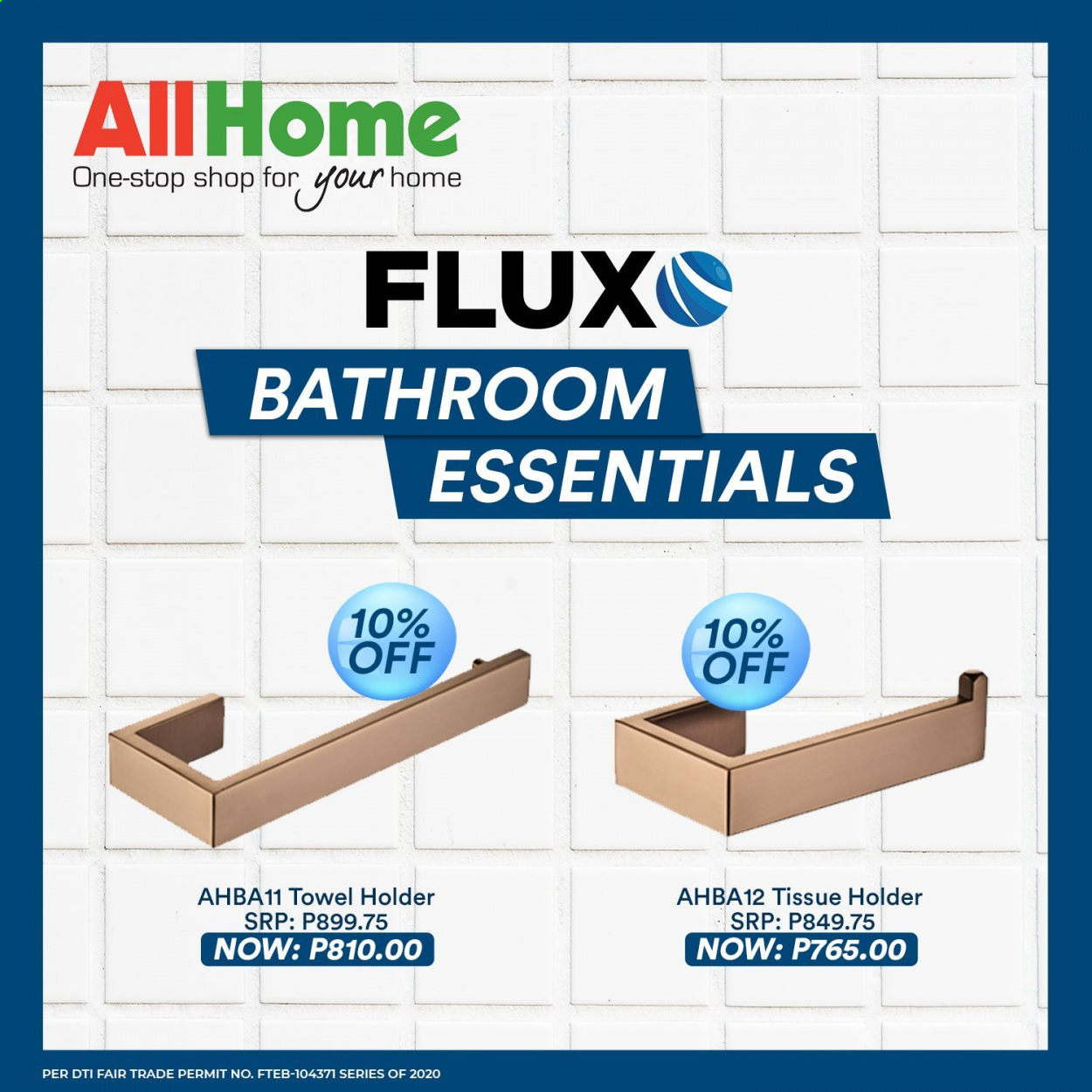 AllHome offer  - Sales products - towel, Holder. Page 1.