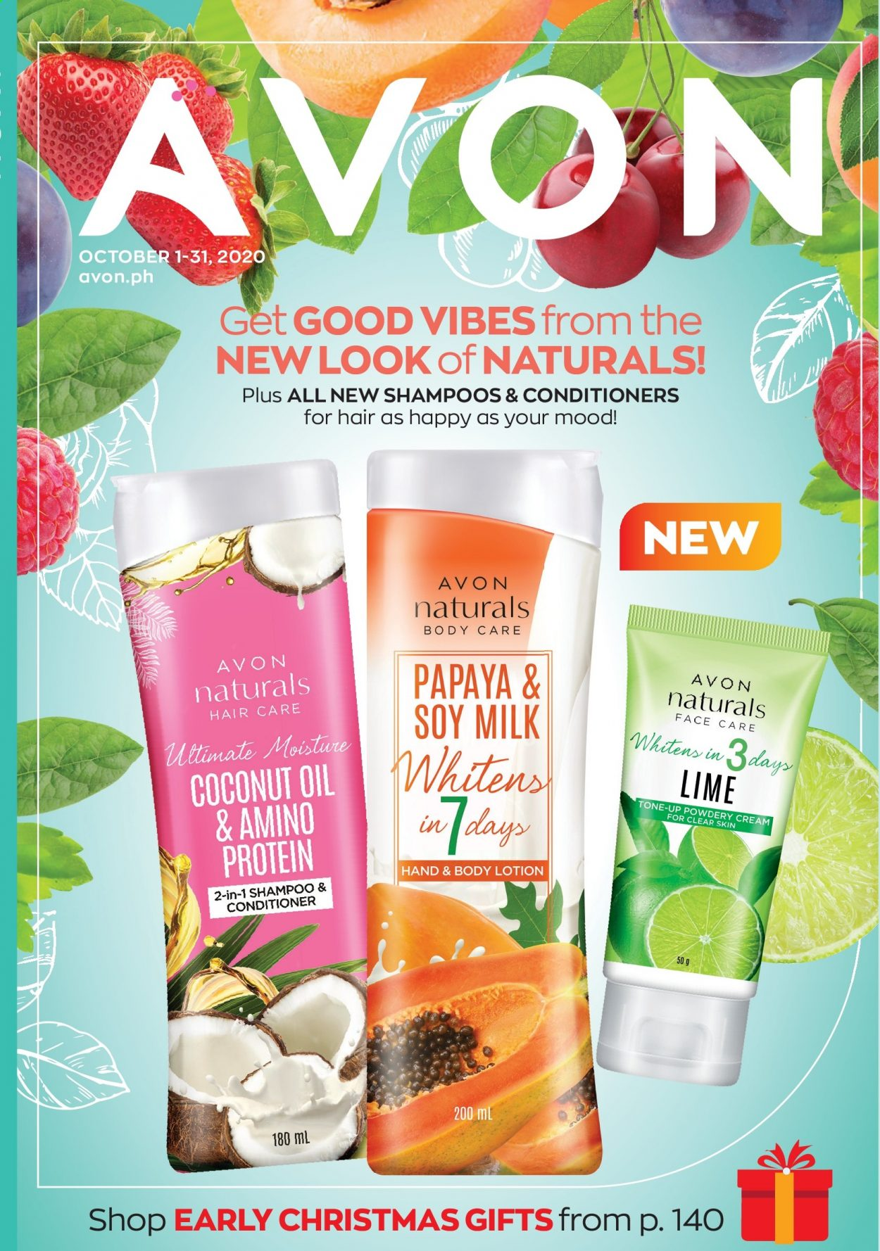 Avon offer  - 1.10.2020 - 31.10.2020 - Sales products - shampoo, Avon, coconut oil, conditioner, body lotion. Page 1.