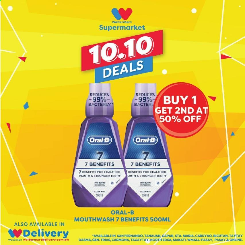 Walter Mart offer  - 10.10.2020 - 10.10.2020 - Sales products - mint, oral-b, mouthwash. Page 2.