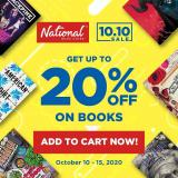 National Book Store offer  - 10.10.2020 - 15.10.2020.