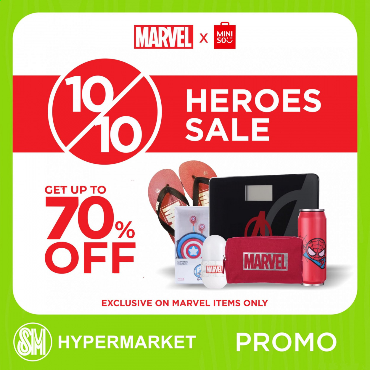 SM MARKETS offer  - 10.10.2020 - 10.10.2020 - Sales products - inner ear headphones, Marvel. Page 1.