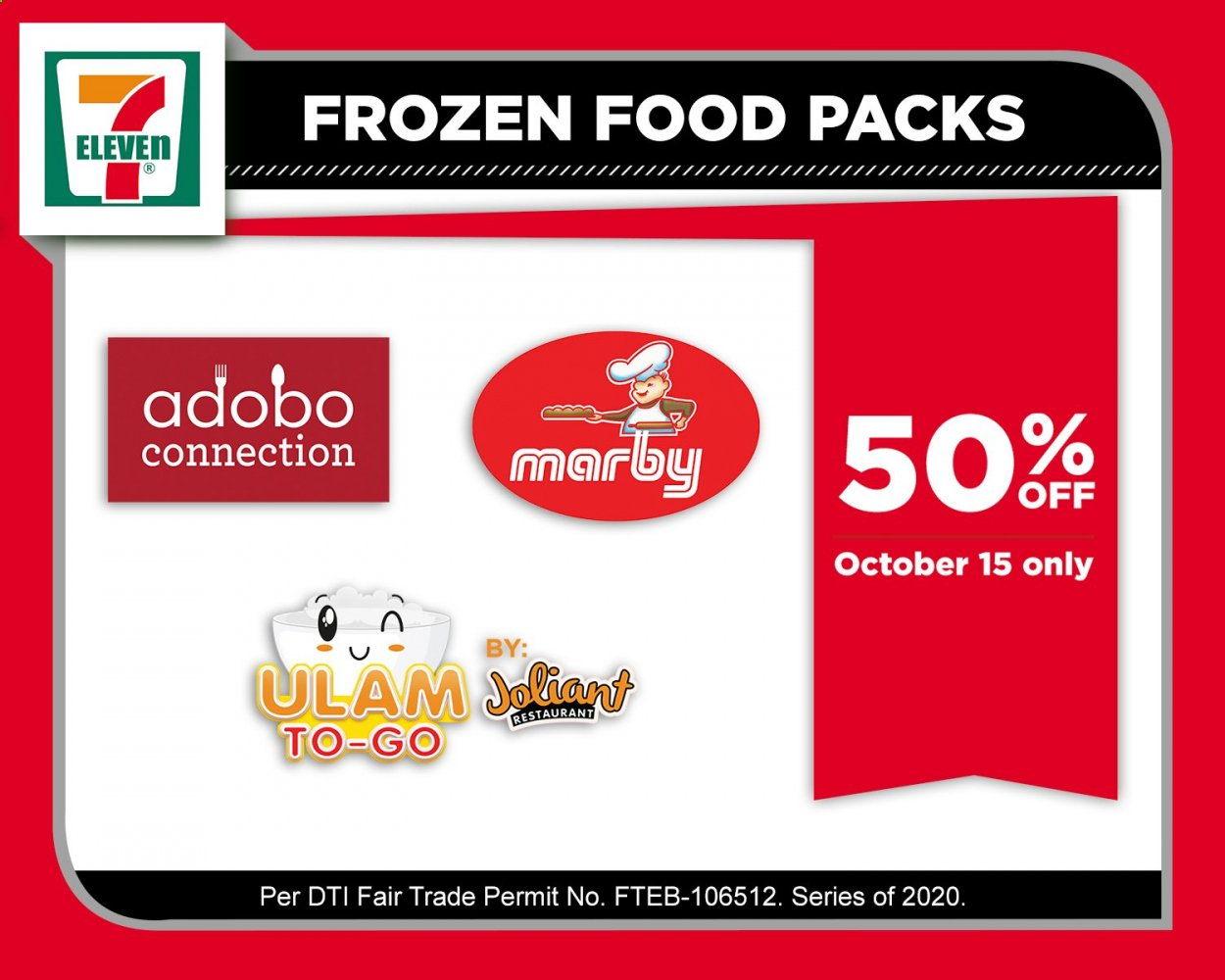 7 Eleven offer  - 15.10.2020 - 15.10.2020 - Sales products - adobo sauce, frozen. Page 1.